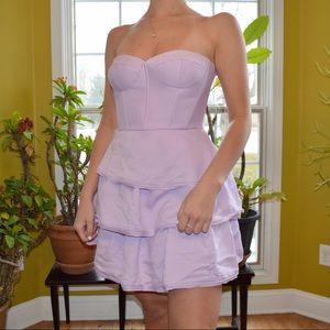 Violet Purple Removable Strap Dress BCBG Size 6